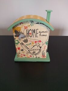 """Butterfly & Bird """"Home Sweet Home"""" house plaque"""