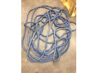 Winch rope for capstan type winch. Rare. Very long. Pulley block for rope. Landrover. Fairey.