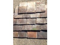 Handmade reclaimed roof tiles - no nail holes