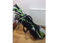 10 Woodworm juniors golf clubs.
