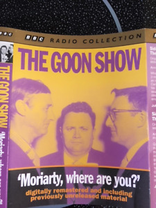 """""""The Goon Show: Moriarty, where are you?"""" 2 Audio Cassettes $50"""