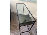 VITTSJÖ table - black/glass - Ikea
