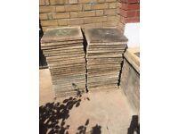 Garden patio slates
