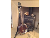 Martin Sigma SB-25, 5 string Banjo,Korea. with deluxe hard black,case.all cleaned+refurbished,A1