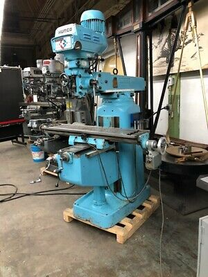 Hurco Model Sm1 - 3hp Vertical Milling Machine 9 X 42 Table With Dro