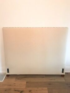 Queen Fabric studded Pottery Barn headboard for sale