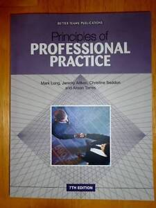 Principles of Professional Practices - 7th Edition Beldon Joondalup Area Preview