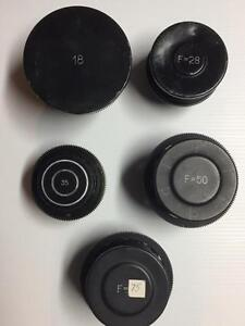 "*Update"" - OPEN TO TRADE OFFER - Lomo (Oct-19 Mount Cinema Prime Lens Kit) - 18mm, 28mm, 35mm, 50mm, 75mm"
