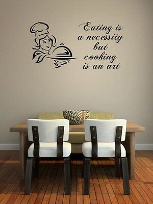 JC Design Eating is a necessity but cooking is an art Wall S