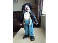 tramp / clown pot doll
