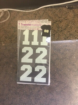 New Iron on Numbers size 3 inch Transfermations 4 sheets