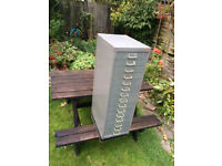 Tall grey filing cabinet in good condition
