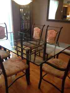 Glass dining room set for sale