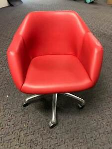 8 x Red Swival Office Chairs Glendenning Blacktown Area Preview