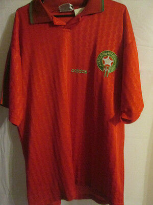 Morocco 1996-1997 Home Football Shirt Size Xl /8155 image