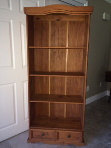 Gorgeous Wooden Bookshelf with Bottom Drawer