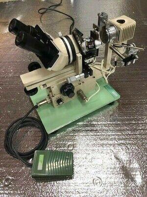 Narishige Microforge Mf-9 Microscope With Foot Switch Custom Micromanipulator