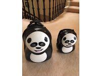 Cuties and Pals - Hard Shell Child Luggage Set - Panda