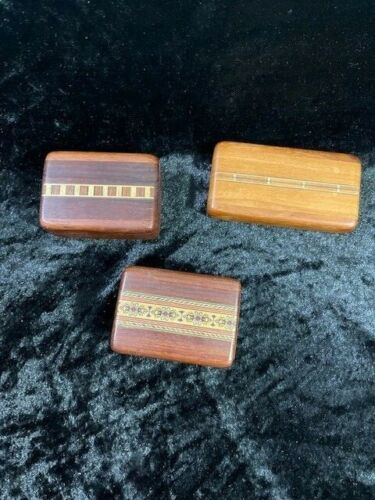 Your Choice of 3: Heartwood Creations Hardwood Secret Boxes Vol discount availab