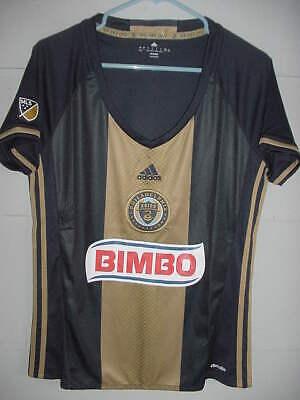 1f82d2bc9 New Adidas MLS Philadelphia Union Home Women's Soccer Jersey Navy Gold Sz  Large