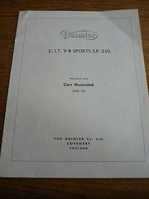 """DAIMLER 2 1/2 LITRE SP 2540 (DART) ROAD TEST """"BROCHURE"""""""