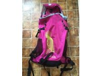 LADIES OR GIRLS CERISE LARGE RUCKSACK/BACKPACK