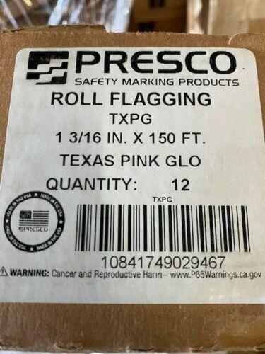 (12 Rolls) Presco TXPG Texas Roll Flagging Tape - Pink Glo