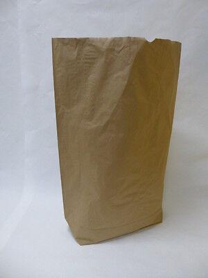 25 St. Papiersäcke braun 120 Liter, 2-lagig für Abfallentsorgung, Biomüll
