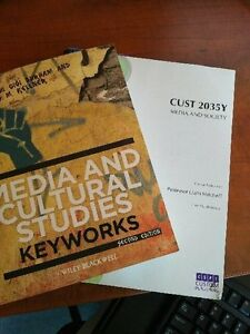 CUST-2035Y Media & Society Textbook & Course Pack Peterborough Peterborough Area image 1
