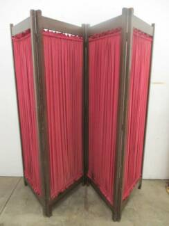 B37053 Large 4 Fold Screen Room Divider Beauty Salon Change Rooms Unley Unley Area Preview