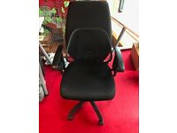 Black office/desk chairs, various brands and models