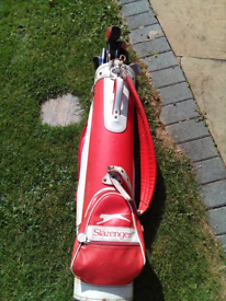 Used ladies right hand set of golf clubs with bag.