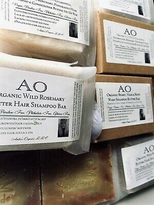 Organic Wild Buttererd Rosemary Hair Shampoo Grow + Nourish Soapster