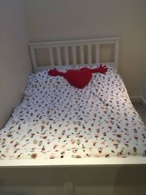 Ikea Hemnes double bed with memory foam topped mattress