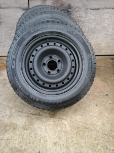 directional winter tires on 15 inch rims 5 bolt