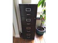 Vintage Dark Green Filing Cabinet