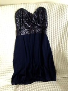 Beautiful navy blue semi formal dress, Sm, New Years/Christmas!