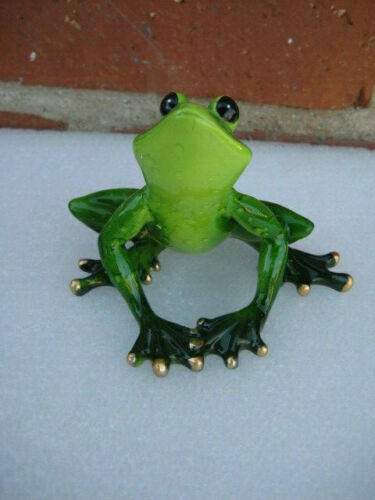 Yoga Frog Lover Stretching Warm Up Routine Resin Statue Figurine