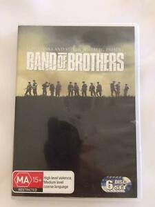The Pacific  &  Band of Brothers both 6 discs set Everton Park Brisbane North West Preview