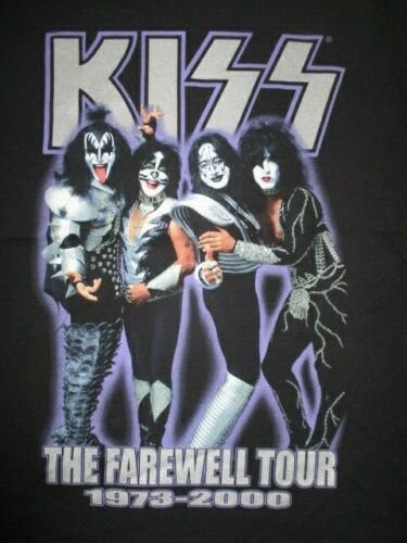 "2000 KISS ""THE FAREWELL TOUR 1973-2000"" Concert Tour (LG) T-Shirt GENE SIMMONS"