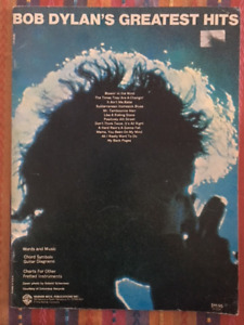 Bob Dylan's Greatest Hits Sheet Music 12 Songs Vocals Guitar &