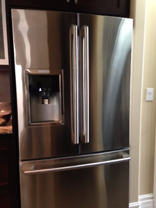 French Door, Bottom Freezer Fridge -- less than 2 years old!