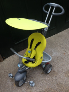 SmarTrike 4-in-1 tricycle with recline, handle, sunshade, etc.