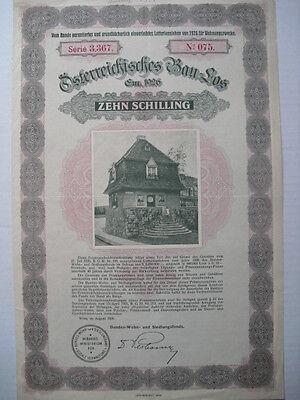 Österreichisches Bau Los  Wien 1926