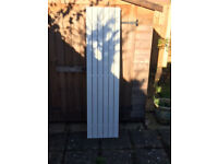 Designer Vertical Radiator Fixtured and fittings included 1850 x 445mm size