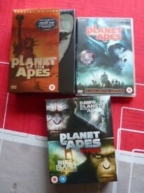 PLANET OF THE APES DVD BOX SET.5 FILMS + Planet Of The Apes 2001 + DAWN + RISE