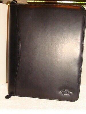 Gte Byron Nelson Classic Black Leather 3-ring Zip Planner Organizer Original Box