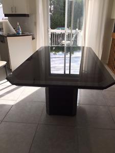 Beautiful Black Plexiglass/Granite Kitchen Table