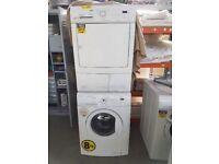 Zanussi stacked washer & Condenser Dryer