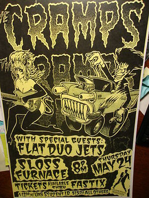 The Cramps/Flat Dou jets Sloss furnace Big Daddy Roth Ratfink poster 1989 LUX